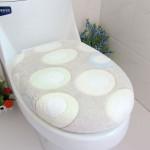 Coral Fleece Green Pebble Closestool Mat Toilet Seats Twinset Bathroom