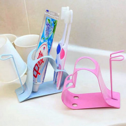 Couples Heart-shaped Wash Rack Toothbrush Toothpaste Holder