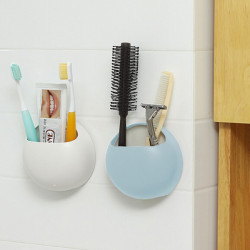 Creative Couple Toothbrush Holder Suction Cup Toothpaste Storage Rack