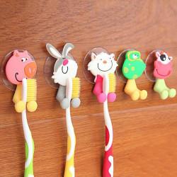 Creative niedliche Cartoon Tier Leistungsstarke Sucker Zahnbürstenhalter