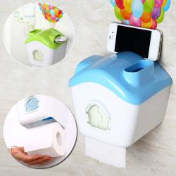 Kreativ Toilet Roll Paper Holder Papir Box med Mobile Phone Rack