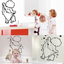 Cute Baby Shower Pattern Sticker Bathroom Glass Door Wall Decoration