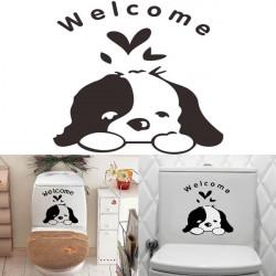 Sød Hund Vandtæt Toilet Sticker Badeværelse Wallstickers Decor