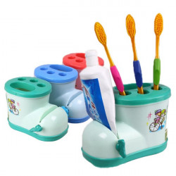 Cute Multifunctional Boots Toothbrush Holder Toothpaste Squeezer