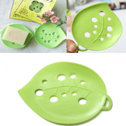 Cute Small Green Leaf-shaped Bathroom Soap Holder