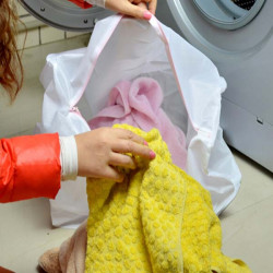 Cylindrical Meshy Towel Washing Bag Sheet Pants Cleaning Bags