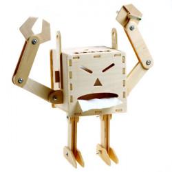 DIY Funny Wooden Assembly Robot Creative Bathroom Tissue Box