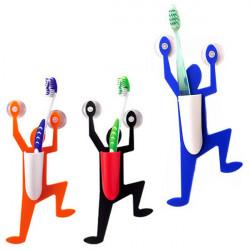 Lustige menschliche Form Saugnäpfe Kunststoff Zahnbürstenhalter