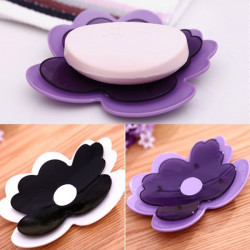 Greative Petal Soap Box Bathroom Translucence Soap Holder
