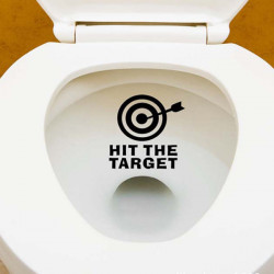 HIT THE TARGET Pattern Bathroom Closestool Waterproof Removable Sticker