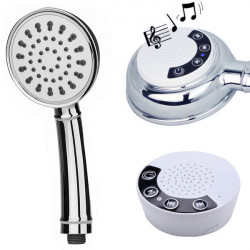 Handheld Music Phone Shower Head With Waterproof Bluetooth Speaker