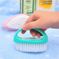 Handle Design Clean Brush Wall Bathtub Clothing Shoes Cleaning