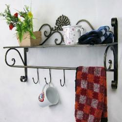 Iron Craft Väggbonad Handdukshängare Badrum Förvaring Shelf