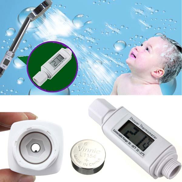 LCD Digital Nøjagtig Brusehoved Termometer Meter for Baby Gravid Badeværelse
