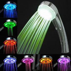 LED 7 Colors Lights Automatic Changing Water Shower Head Spray