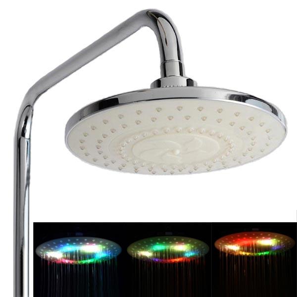 LED Färgglada Flash Nederbörden Top Spray Duschhuvud Badrum Badrum