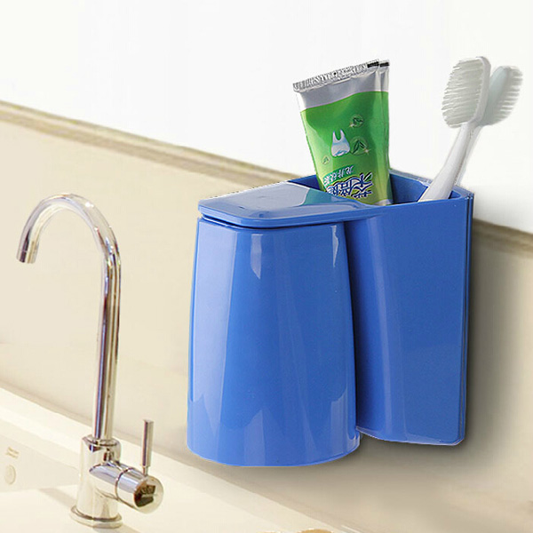 Magnetic Toothbrush Holder Gargle Cup Set Toothpaste Tooth Glass Bathroom