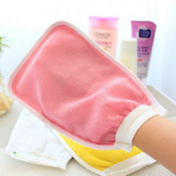 Multicolour Double Side Shower Towel Wash Mitt Rubbing Mitts