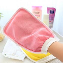 Flerfärgad Double Side Dusch Handduk Tvätta Mitt Gnuggbild Mitts