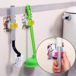 Multifunction Magic Mop Broom Hook Wheel Design Clip Holder