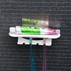 Non-trace Sticker Toothbrush Rack Toothpaste Holder Bathroom Shelf