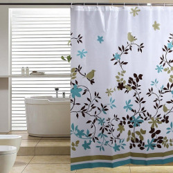PEVA Leaves Waterproof Thicken Shower Curtain Bath Curtain 180X180cm