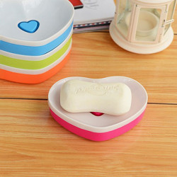 Plastic Double Love Soulmate Soap Dishes Soap Tray