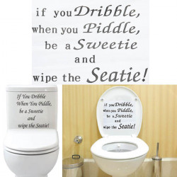 Removable PVC Toilet Seat Sticker Bathroom Wall Decoration