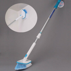 Retractable Long Handle Bathroom Kitchen Cleaning Brush Wipe Tile