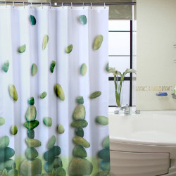 Riverstones Waterproof Polyester Shower Curtain Bathroom Decor