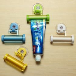 Rolling Squeezer Toothpaste Dispenser Tube Partner Holder Sucker