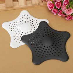 Gummi Starfish Hair Filter Shower Drain Cover Hårstrån Catcher