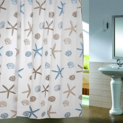 Shell Starfish Waterproof Shower Curtain Bathroom Decor