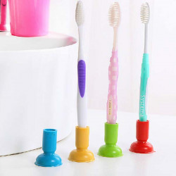Simple Creative Suction Cup Toothbrush Holder