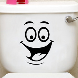 Smiling Face Waterproof Toilet Sticker Bathroom Decoration Decal