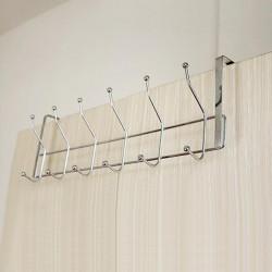 Edelstahl 12 Haken Lagerung Hut Mantel Tuch Badezimmer Tür Aufhänger