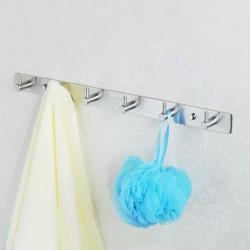 Rustfrit Stål 6 Kroge Bath Tøj Håndklæde Væg Bøjle Rack
