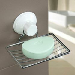Strong Suction Stainless Steel Soap Dish Holder Cup