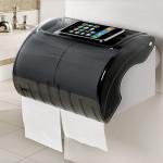 Saugnapf Langrollenpapier Rack Wasserdichte Toilettenpapier Wandhalter Badezimmer