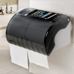 Saugnapf Langrollenpapier Rack Wasserdichte Toilettenpapier Wandhalter