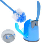 Toilet Brush Set With Base Plate Cleaning Brushs Blue Yellow Bathroom