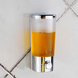 Vægmonteret Badeværelse Flydende Sæbe Dispensere Hand Press Sæbedispenser