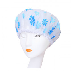 Women Waterproof Lace Hat Protect Hair Bath Shower Cap Care