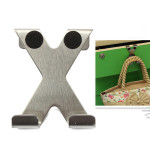 X Shape Stainless Over Door Hooks Cabinet Clothes Pothook Hanger Bathroom