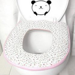 Zipper Thicken Closestool Mat Toilet Seat Cover Clean Pad