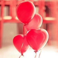 100stk 12inch Red Heart Latex Luftballons Party Deko