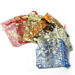 100pcs Drawstring Rose Organza Gift Bag Jewellery Candy Pouch Bag Festival Gifts & Party Supplies