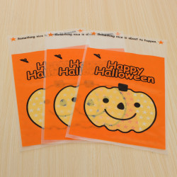 100pcs Outdoor Pumpkin Hanging Bags Gifts Candy Cookie Bags