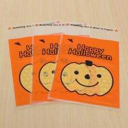 100stk Outdoor Pumpkin Bøjle Tasker Gaver Candy Cookie Tasker