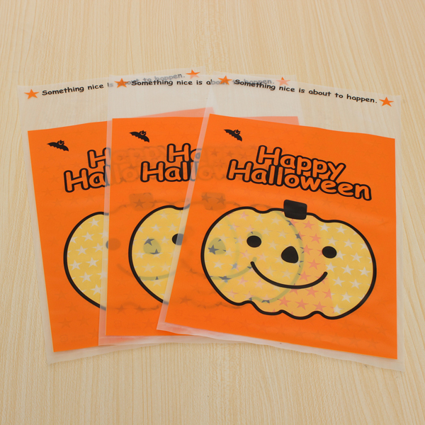 100pcs Outdoor Pumpkin Hanging Bags Gifts Candy Cookie Bags Festival Gifts & Party Supplies